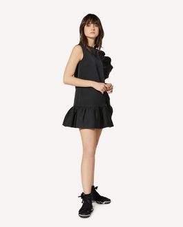 REDValentino Ruffle detail soft duchesse dress