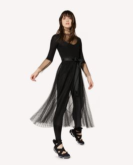 REDValentino Point d'esprit tulle pleated dress