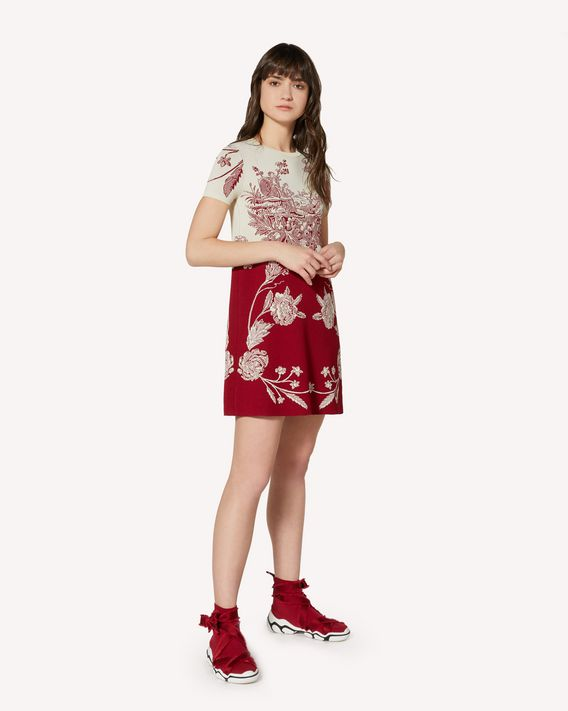 REDValentino Toile de Jouy jacquard stretch viscose knit dress