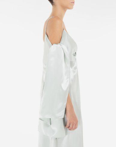 ワンピース・ドレス マルチウェア サテン ドレス ライトグリーン
