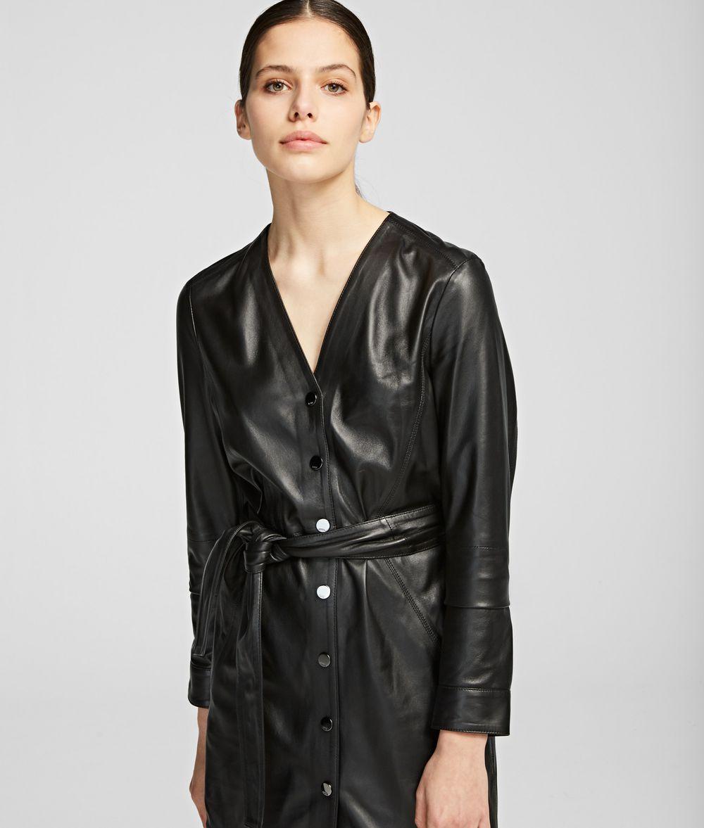 KARL LAGERFELD Leather Dress Dress Woman f