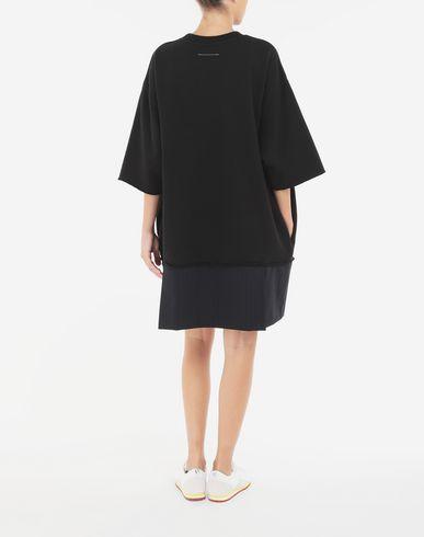 ワンピース・ドレス スプライスド Tシャツ ドレス ブラック