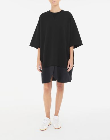 DRESSES Spliced T-shirt dress Black
