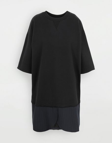 MM6 MAISON MARGIELA Vestido camisero Spliced Minivestido Mujer f