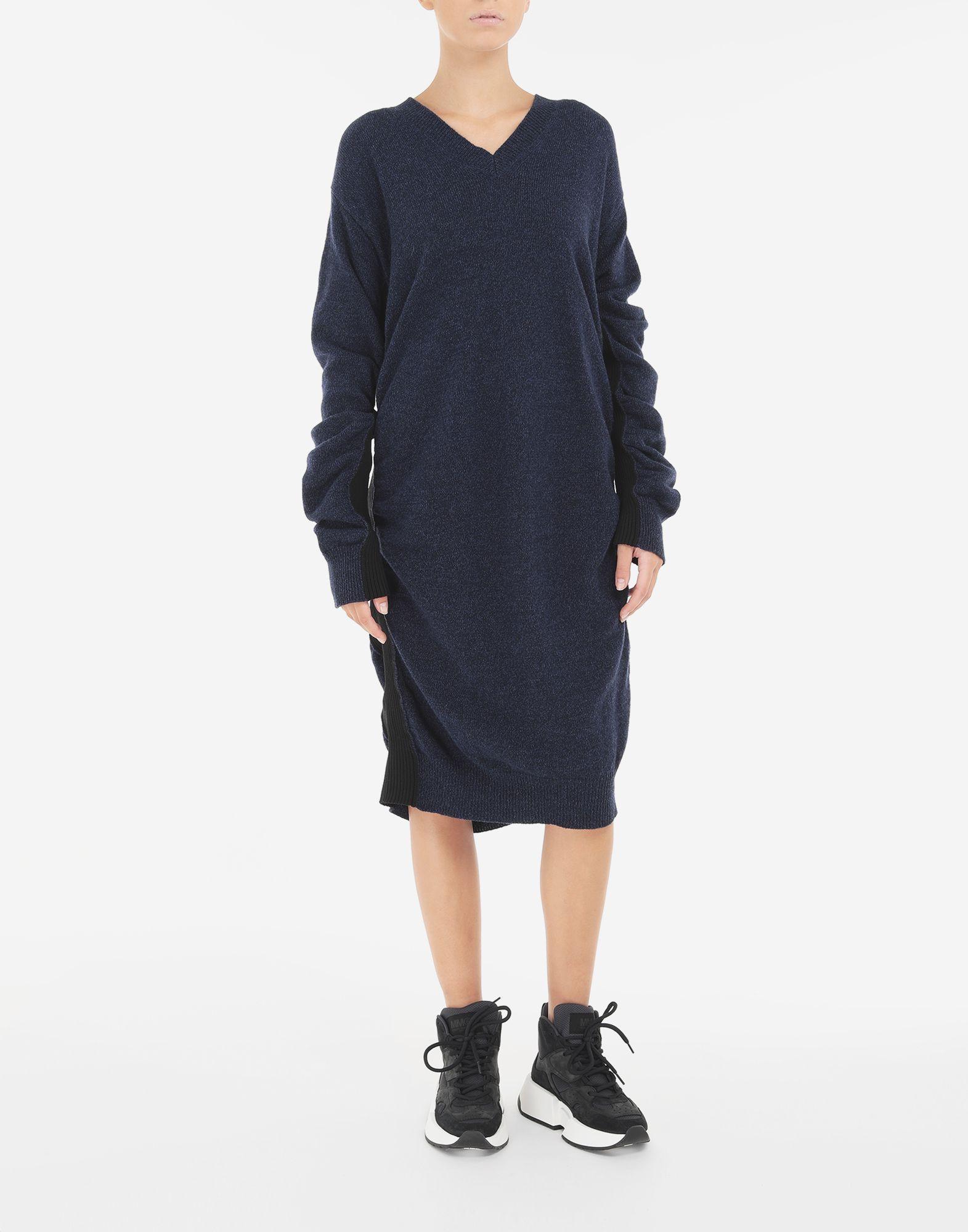 MM6 MAISON MARGIELA Vestido de lana fruncido Minivestido Mujer r
