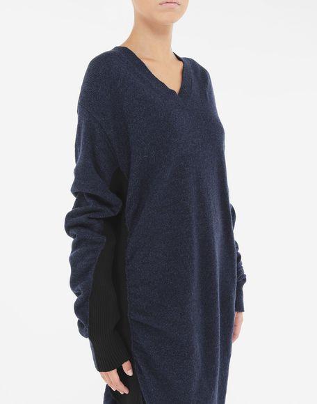 MM6 MAISON MARGIELA Vestido de lana fruncido Minivestido Mujer a