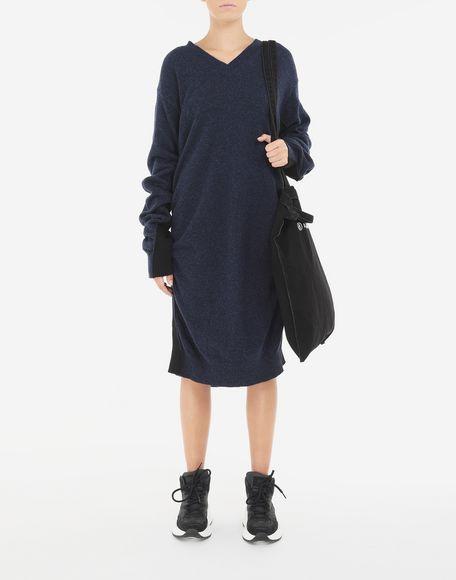 MM6 MAISON MARGIELA Vestido de lana fruncido Minivestido Mujer d