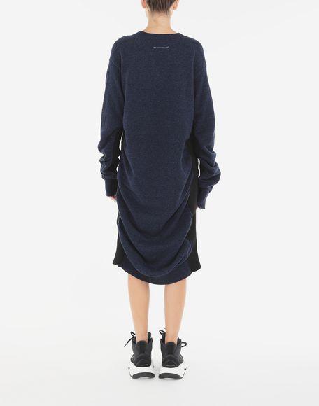 MM6 MAISON MARGIELA Vestido de lana fruncido Minivestido Mujer e