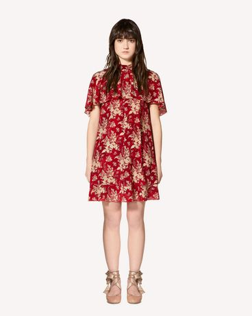 REDValentino Floral Tapestry printed silk dress
