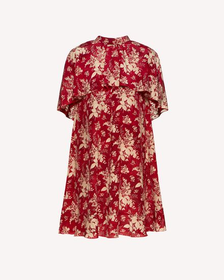 Floral Tapestry printed silk dress