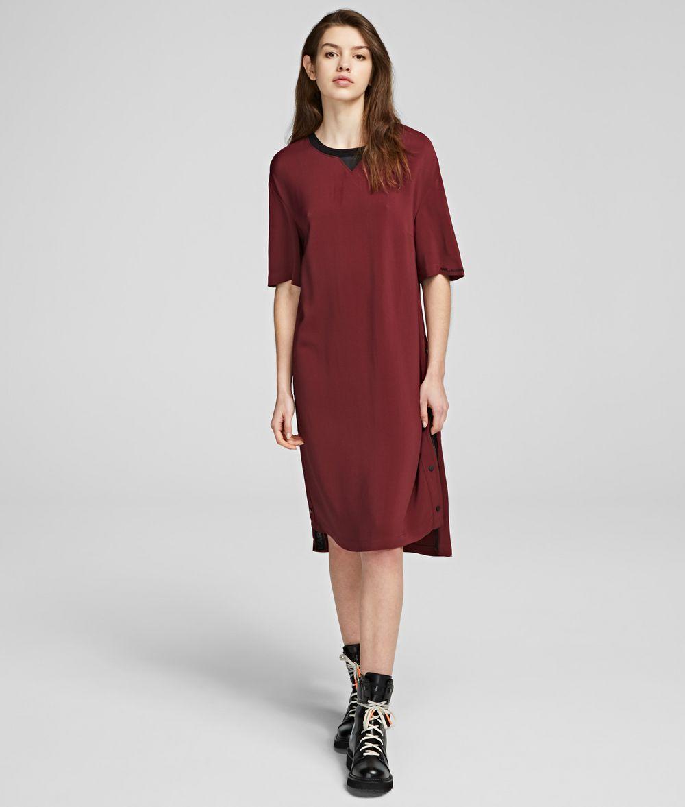 KARL LAGERFELD Snap-Side Dress Dress Woman f