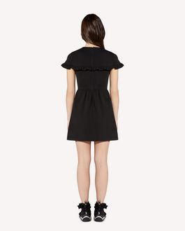 REDValentino Ruffle detail jersey dress