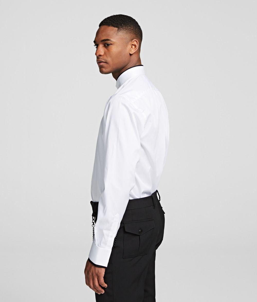 KARL LAGERFELD STAND-COLLAR SHIRT Shirt Man d