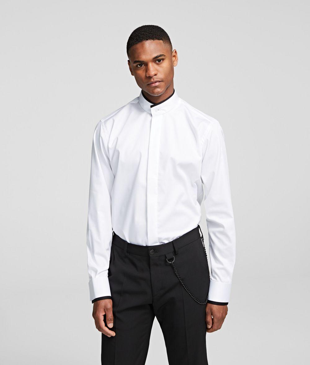 KARL LAGERFELD STAND-COLLAR SHIRT Shirt Man f