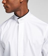 KARL LAGERFELD STAND-COLLAR SHIRT 9_f