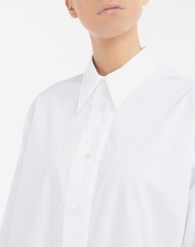 DRESSES Asymmetric shirt-dress White