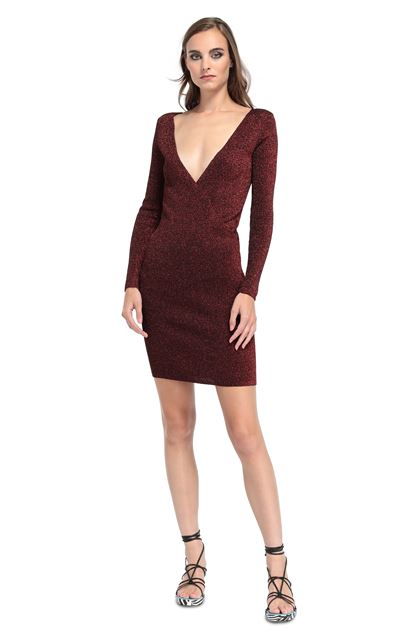 MISSONI Dress Maroon Woman - Back