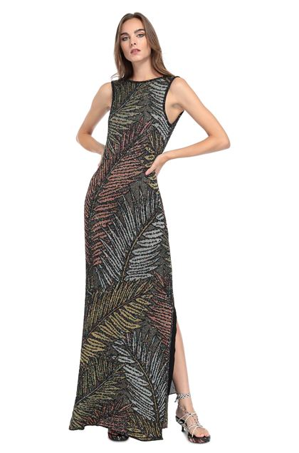 MISSONI Long dress Black Woman - Back