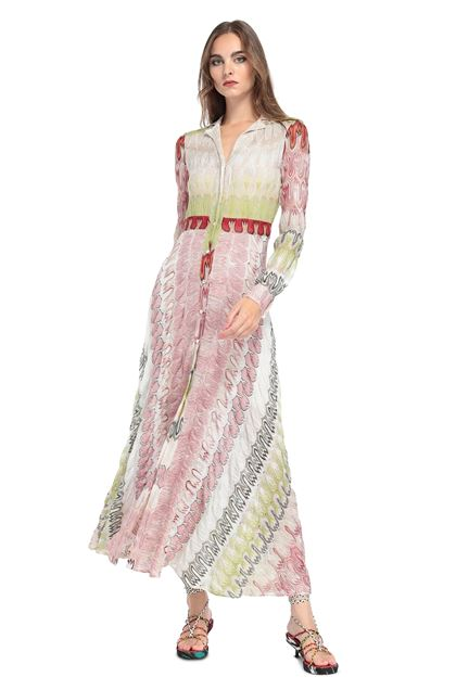 MISSONI Long dress Pink Woman - Back