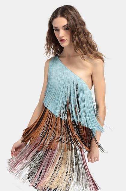 MISSONI Dress Azure Woman - Front