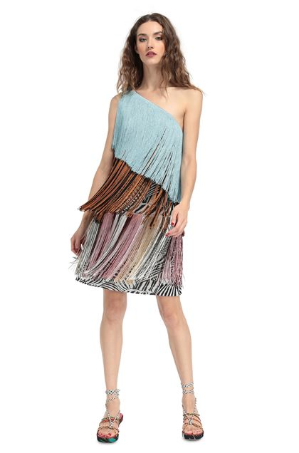 MISSONI Dress Azure Woman - Back