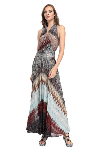MISSONI Long dress Purple Woman - Back