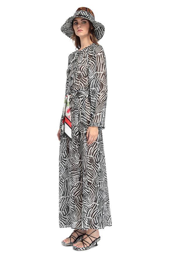 MISSONI Vestido largo Mujer, Vista lateral