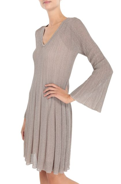 M MISSONI Dress Platinum Woman - Front