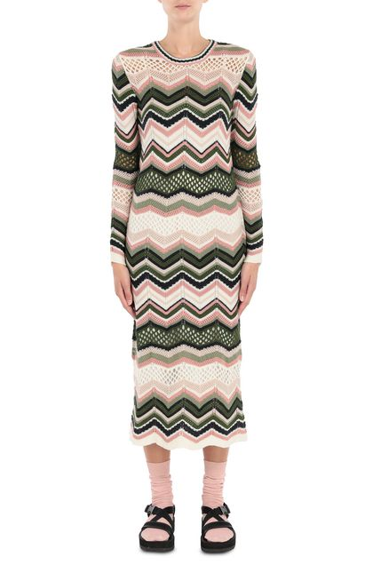 M MISSONI Dress Ivory Woman - Back