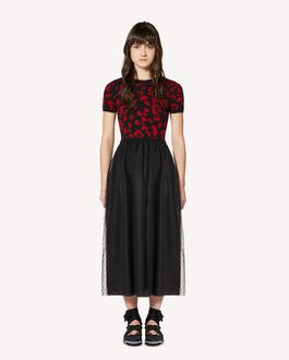 REDValentino Leo Rock jacquard mohair knit dress