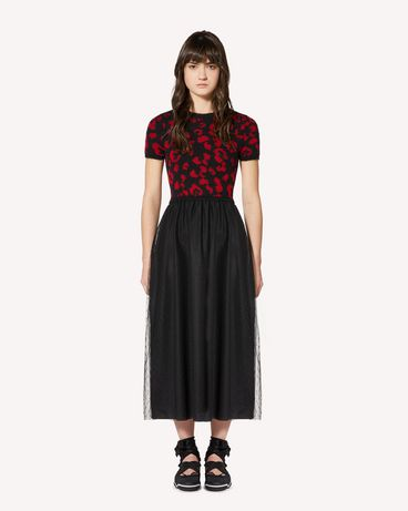 REDValentino SR0KDA984LS 0NO Long and midi dresses Woman f