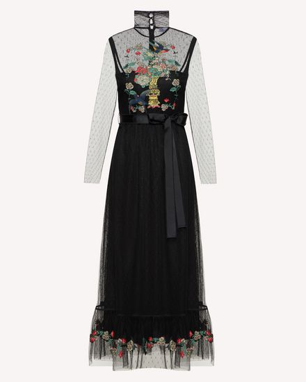 REDValentino Long and midi dresses Woman SR0VA06Y4K8 N78 a