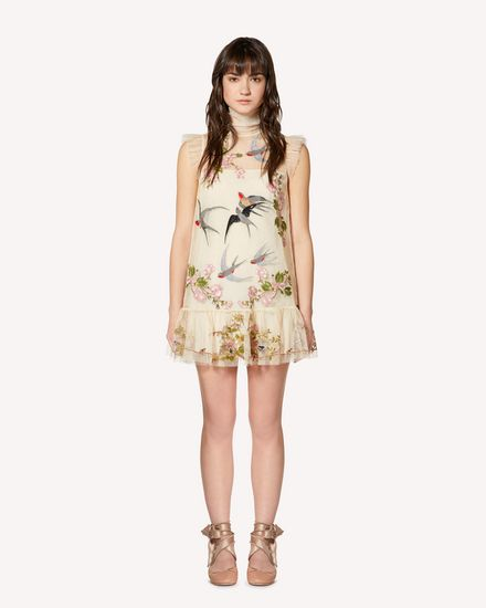 REDValentino Printed dress Woman SR0VA05E4KP AM0 f