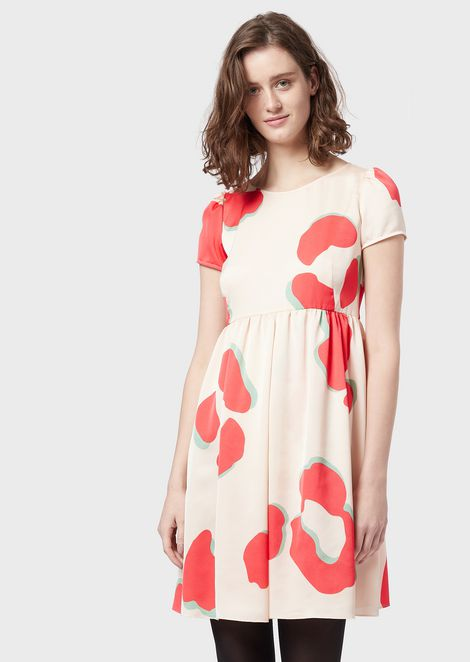 Crêpe dress with LeoFlower print