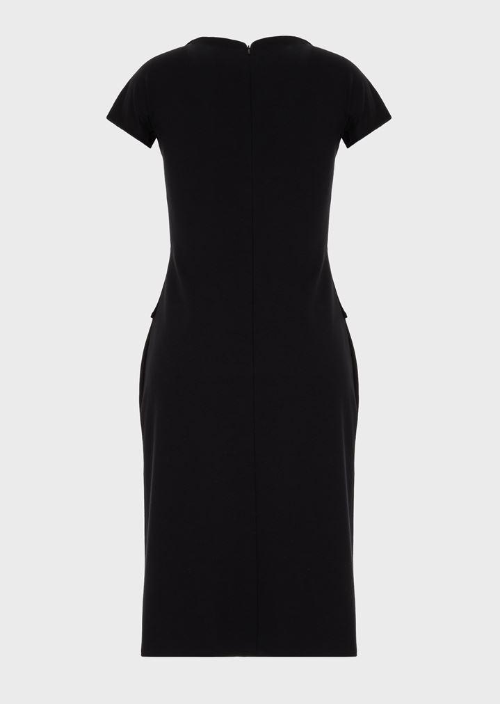 Kleid mit Oberteil aus Samt | Damen | Giorgio Armani