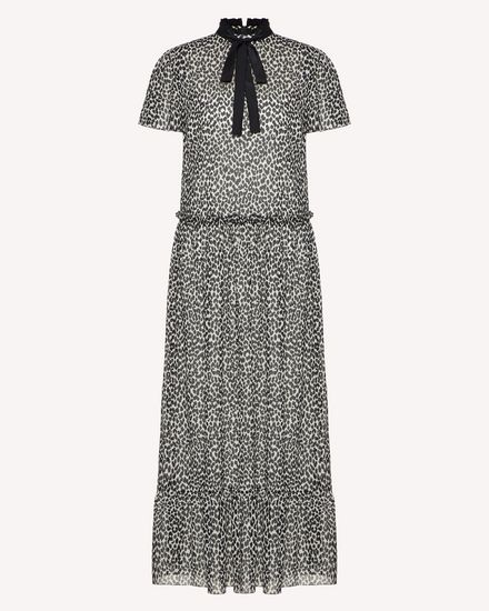 Leo Rock printed silk strecth muslin dress