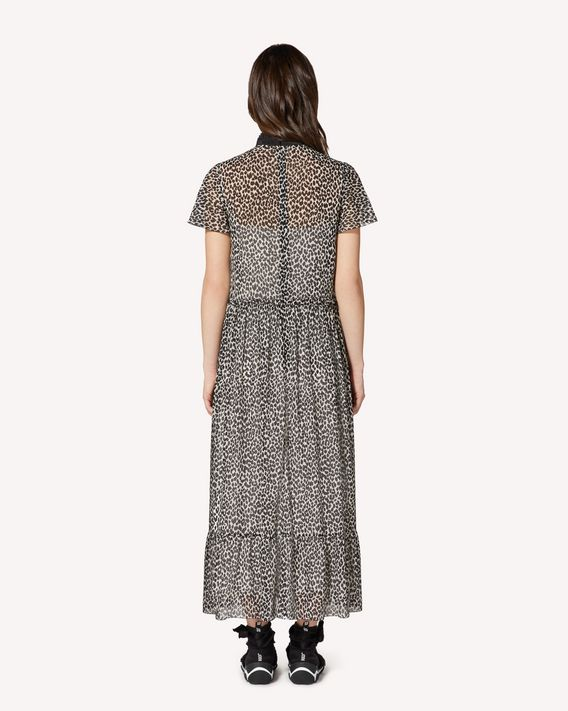REDValentino Leo Rock printed silk stretch muslin dress