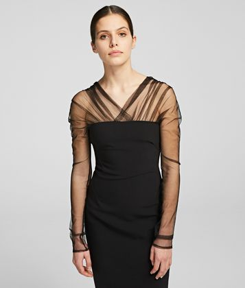 KARL LAGERFELD MIDI PARTY DRESS