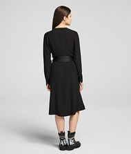 KARL LAGERFELD Layered Wrap Dress 9_f