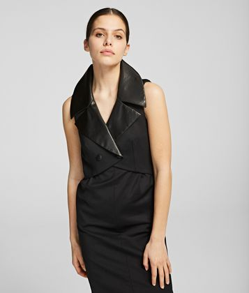 KARL LAGERFELD K/STYLES TUXEDO DRESS