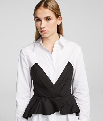 KARL LAGERFELD POPLIN SHIRT DRESS