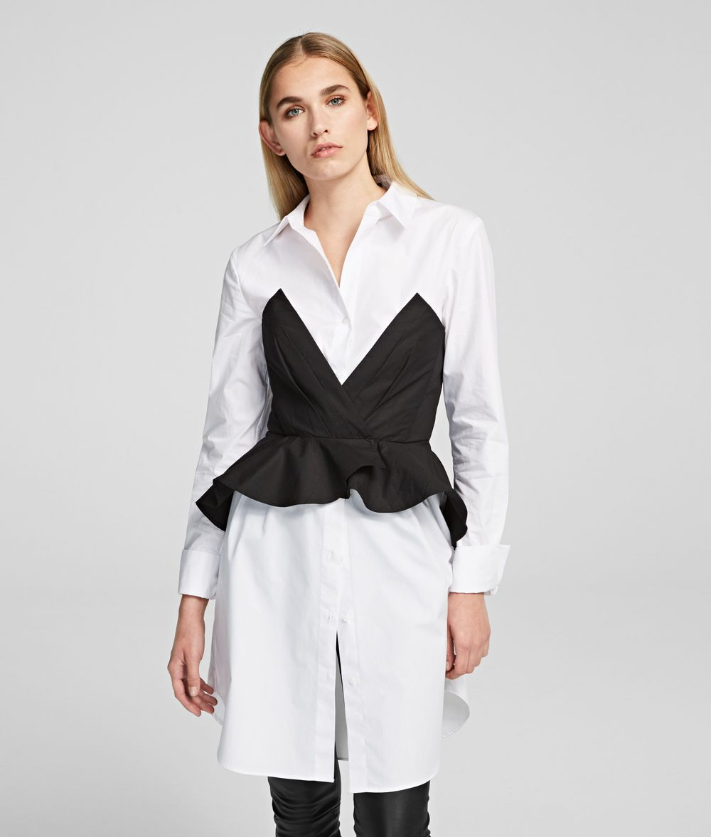 KARL LAGERFELD Poplin Shirt Dress Dress Woman f