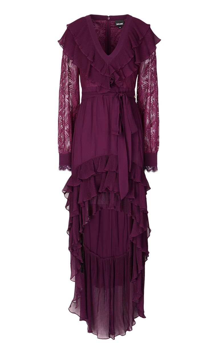 JUST CAVALLI Full-length dress with pleating Dress Woman f