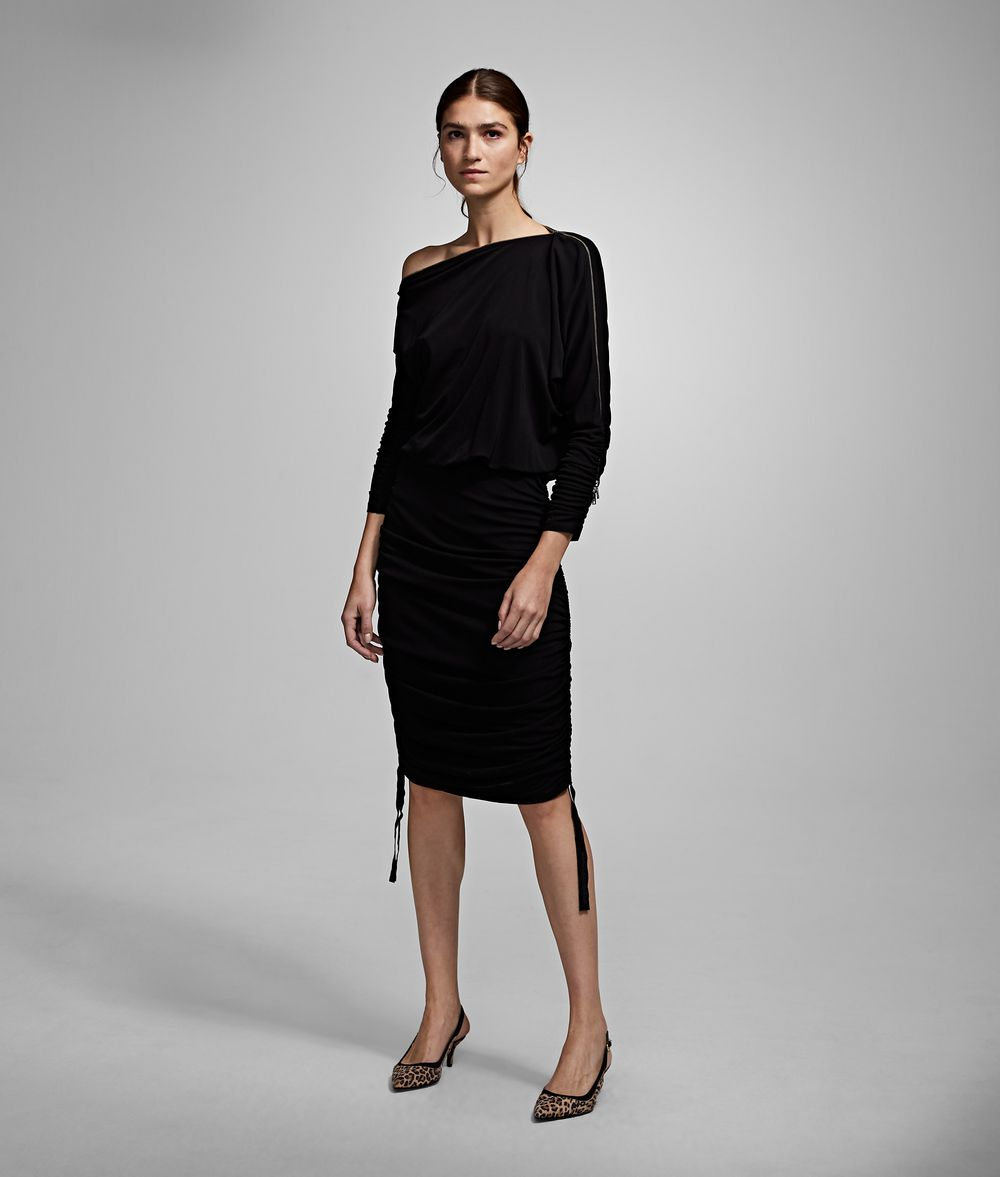 KARL LAGERFELD Shirred Dress Dress Woman f