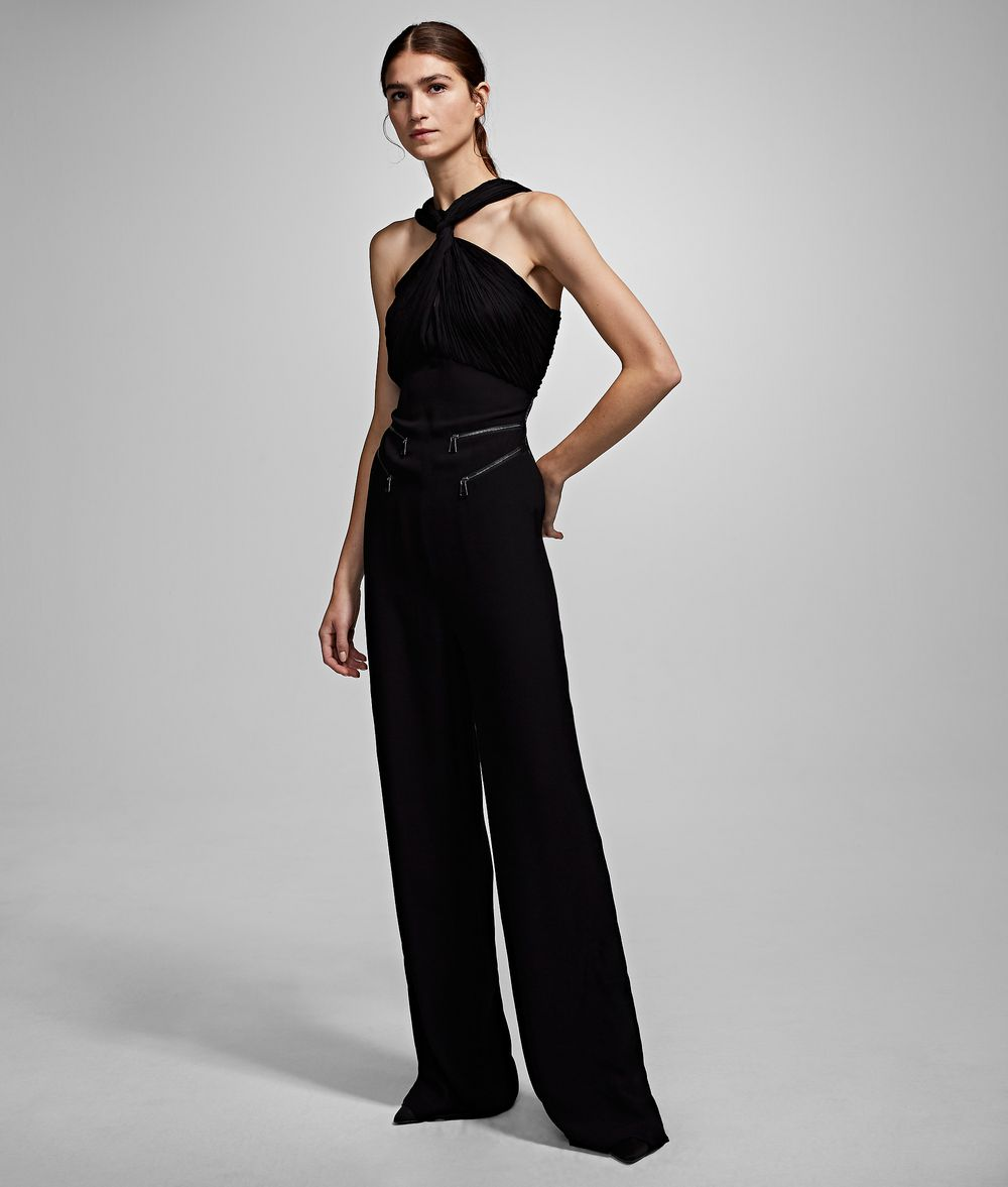KARL LAGERFELD Twisted Neck Jumpsuit Jumpsuit Woman f
