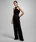KARL LAGERFELD TWISTED NECK JUMPSUIT