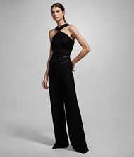 KARL LAGERFELD Twisted Neck Jumpsuit 9_f