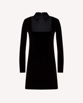REDValentino Tuxedo detail stretch velvet dress