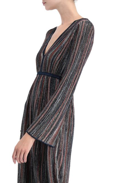 M MISSONI Long dress Blue Woman - Front