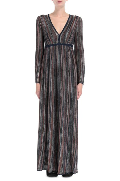 M MISSONI Long dress Blue Woman - Back